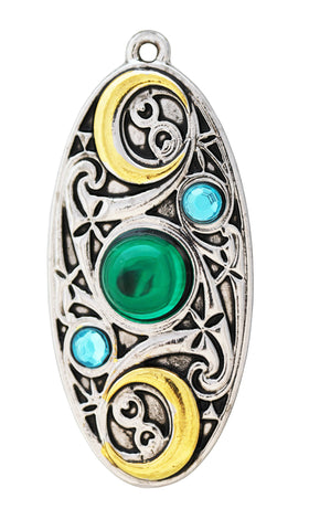 (Product Code: MY9) Moon Shield for Clarity and Reflection, Mythic Celts - EnchantedJewelry