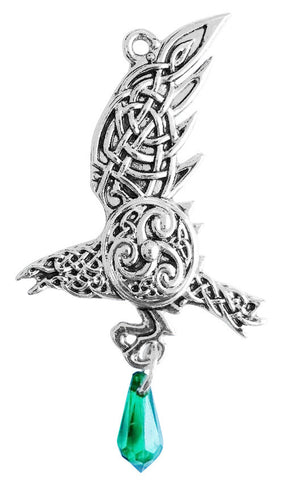 MY3-Bran's Raven for Bravery Evermore (Mythic Celts) at Enchanted Jewelry & Gifts