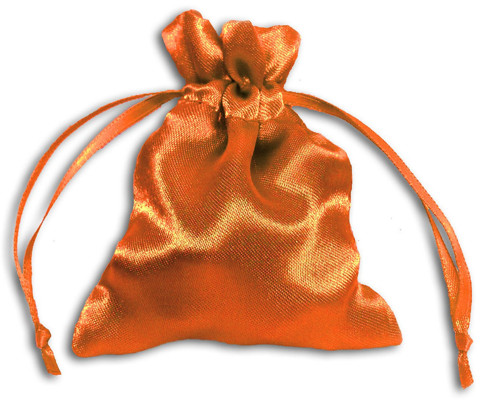 PS14-Orange Satin Pouch (Satin Bags) at Enchanted Jewelry & Gifts