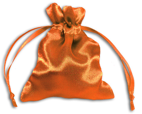 PS14 - Orange Satin Pouch Satin Bags at Enchanted Jewelry & Gifts
