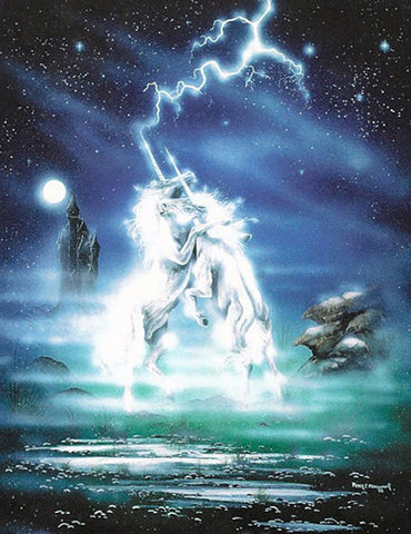 rPP02-Dance of Unicorns Card-Peter Pracownik Cards-Enchanted Jewelry & Gifts