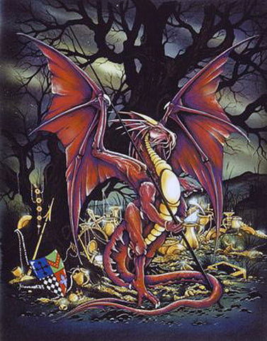 rPP08-Treasure Dragon Card-Peter Pracownik Cards-Enchanted Jewelry & Gifts