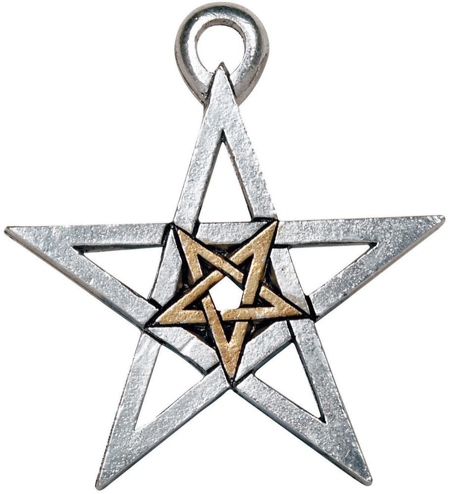 (Product Code: PR11) Double Pentagram, Magical Pentagrams - EnchantedJewelry