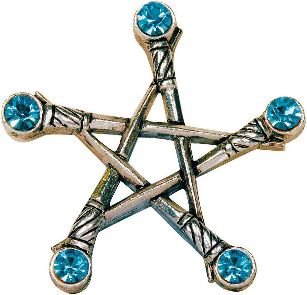 (Product Code: PR1) Pentagram of Swords, Magical Pentagrams - EnchantedJewelry