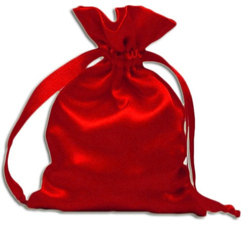 (Product Code: PS01) Red Satin Pouch, Satin Bags - EnchantedJewelry