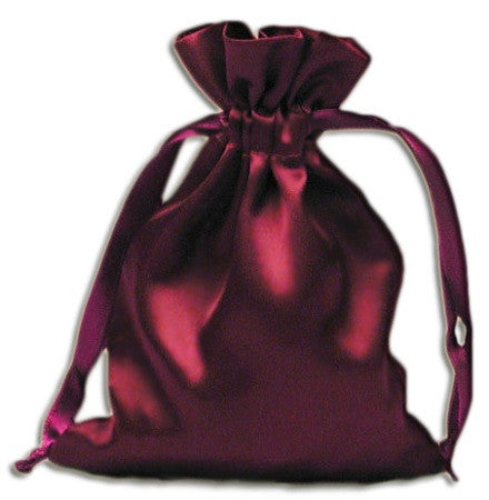 (Product Code: PS02) Wine Satin Pouch, Satin Bags - EnchantedJewelry