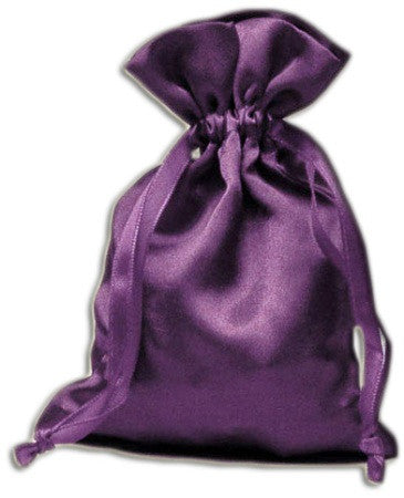 (Product Code: PS06) Purple Satin Pouch, Satin Bags - EnchantedJewelry