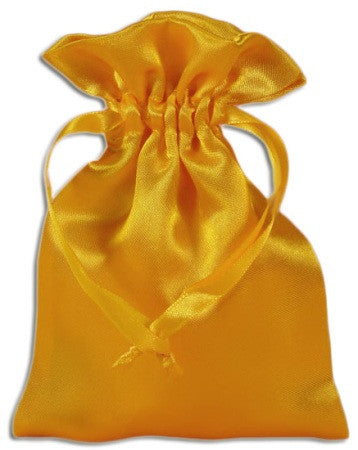 (Product Code: PS08) Yellow Satin Pouch, Satin Bags - EnchantedJewelry
