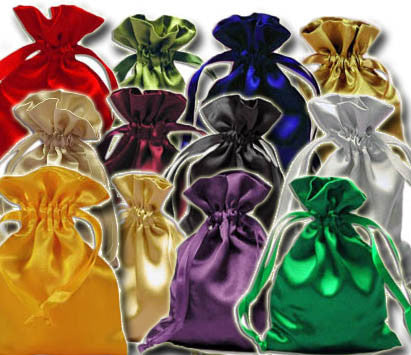 (Product Code: PS13) Assorted Satin Pouch, Satin Bags - EnchantedJewelry