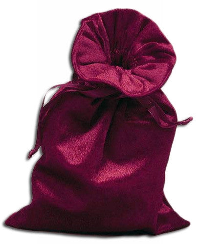 PV02-Wine Velvet Pouch (Velvet Bags) at Enchanted Jewelry & Gifts