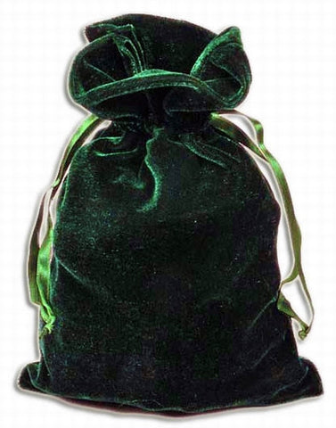 PV10 - Hunter Green Velvet Pouch (Velvet Bags) at Enchanted Jewelry & Gifts