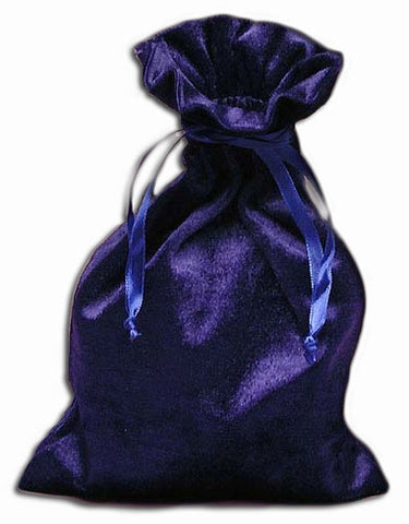 PV12 - Royal Blue Velvet Pouch (Velvet Bags) at Enchanted Jewelry & Gifts