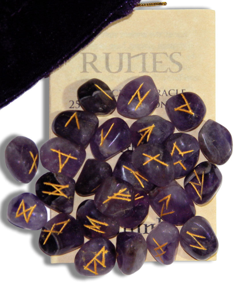 RSA-Amethyst Gemstone Runes (Rune Stones) at Enchanted Jewelry & Gifts