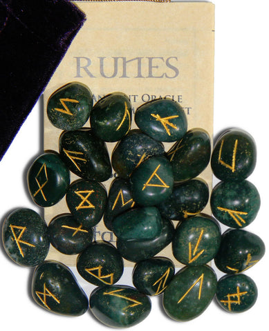 RSBS-Bloodstone Gemstone Runes (Rune Stones) at Enchanted Jewelry & Gifts