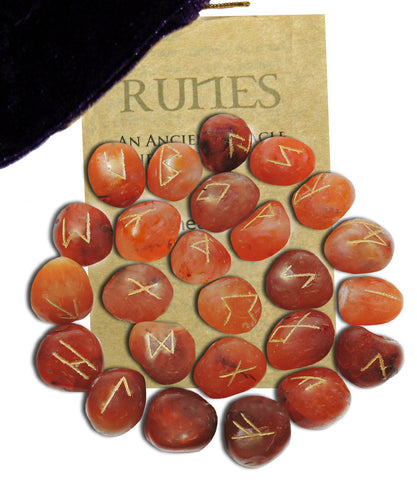 RSCA - Carnelian Gemstone Runes (Rune Stones) at Enchanted Jewelry & Gifts