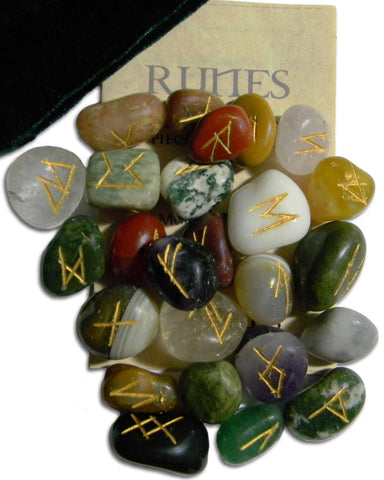 RSM-Multi Gemstone Rune Stones (Rune Stones) at Enchanted Jewelry & Gifts
