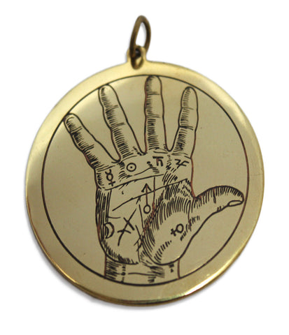 SCD97-Hand of Fortune for Happy Events and Good Opportunities-Key of Solomon Talismans-Enchanted Jewelry & Gifts
