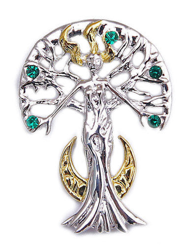 SN03 - Serene Celina Sylvana Tree Spirit by Anne Stokes for Inner Strength and Self Knowledge Supernaturelles at Enchanted Jewelry & Gifts