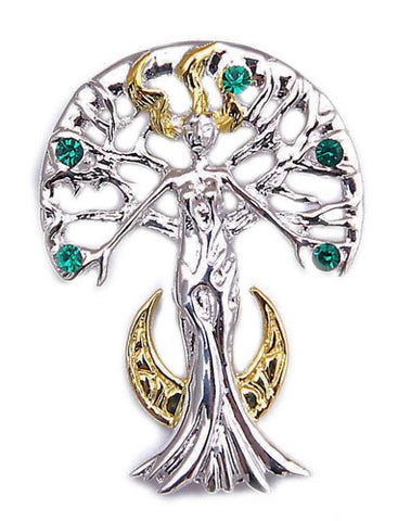 SN03-Serene Celina Sylvana Tree Spirit by Anne Stokes for Inner Strength and Self Knowledge (Supernaturelles) at Enchanted Jewelry & Gifts