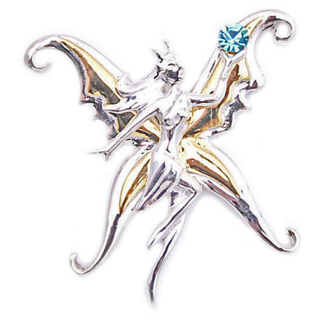 (Product Code: SN07) Bright Vanina Kari Butterfly Fairy by Anne Stokes for Safety in Travel and Adventure, Supernaturelles - EnchantedJewelry