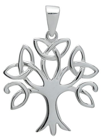 (Product Code: SS01) Silver Trinity Tree of Life Pendant, Symbology - EnchantedJewelry