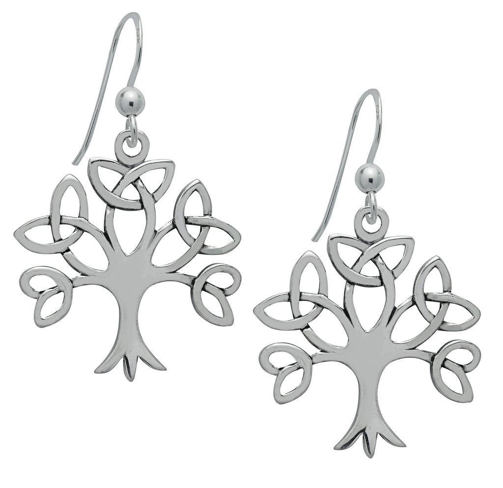 SS02-Silver Trinity Tree of Life Earrings (Symbology) at Enchanted Jewelry & Gifts