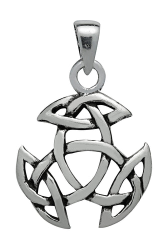 (Product Code: SS05) Silver Open Triad Pendant, Symbology - EnchantedJewelry