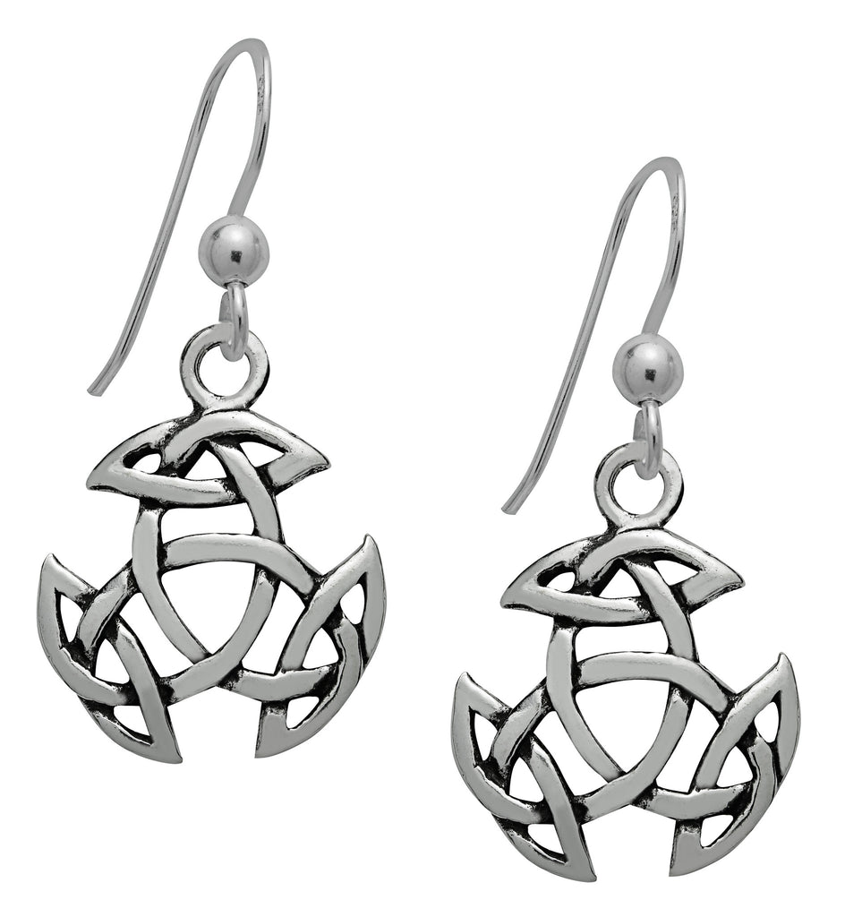 SS06-Silver Open Triad Dangling Earrings (Symbology) at Enchanted Jewelry & Gifts