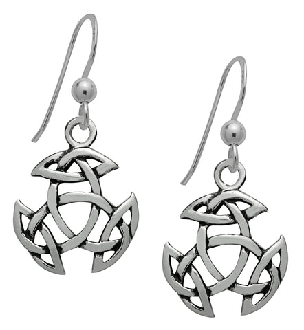 SS06 - Silver Open Triad Dangling Earrings Symbology at Enchanted Jewelry & Gifts