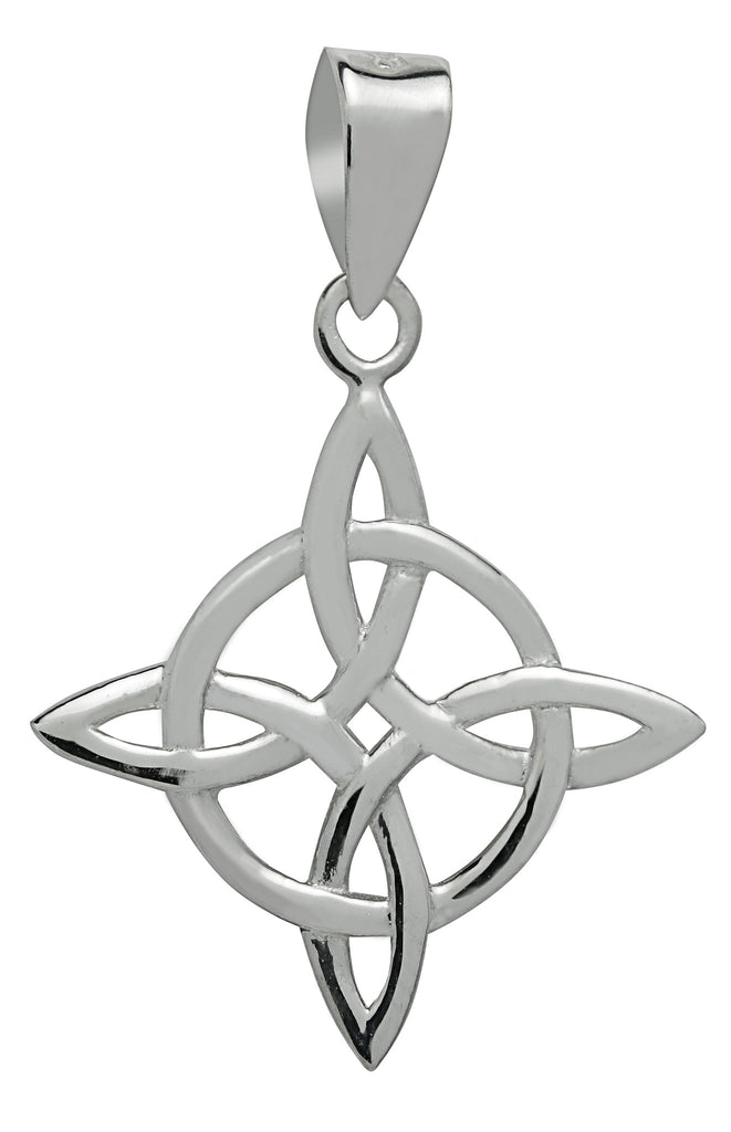 SS07-Silver Celtic Good Luck Pendant (Symbology) at Enchanted Jewelry & Gifts