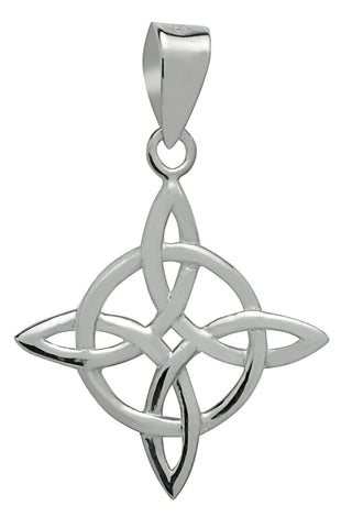 (Product Code: SS07) Silver Celtic Good Luck Pendant, Symbology - EnchantedJewelry