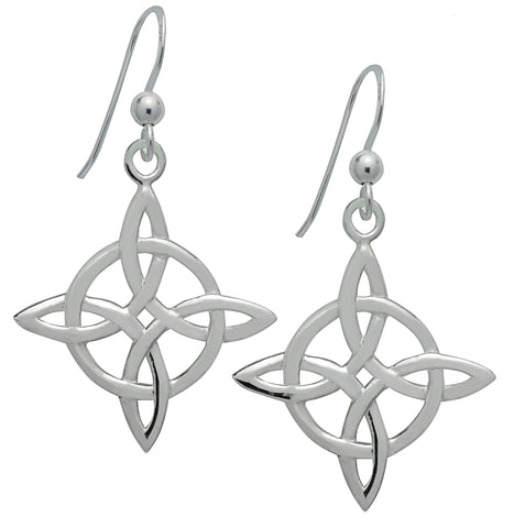 SS08-Silver Celtic Good Luck Earrings (Symbology) at Enchanted Jewelry & Gifts
