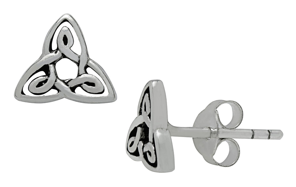 (Product Code: SS17) Silver Trinity Knot Petite Studs Earrings, Symbology - EnchantedJewelry