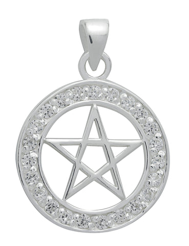 (Product Code: SS24) Brilliant Silver Pentagram for Success, Symbology - EnchantedJewelry