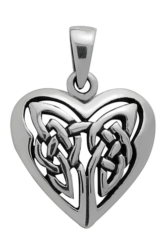 SS27 - Silver Celtic Heart Pendant Symbology at Enchanted Jewelry & Gifts