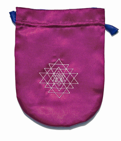STB02-Purple Satin Shri Yantra Tarot Bag (Tarot Bags) at Enchanted Jewelry & Gifts