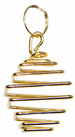 TSGSr-Gold Square Treasure Spiral (Treasure Spirals) at Enchanted Jewelry & Gifts