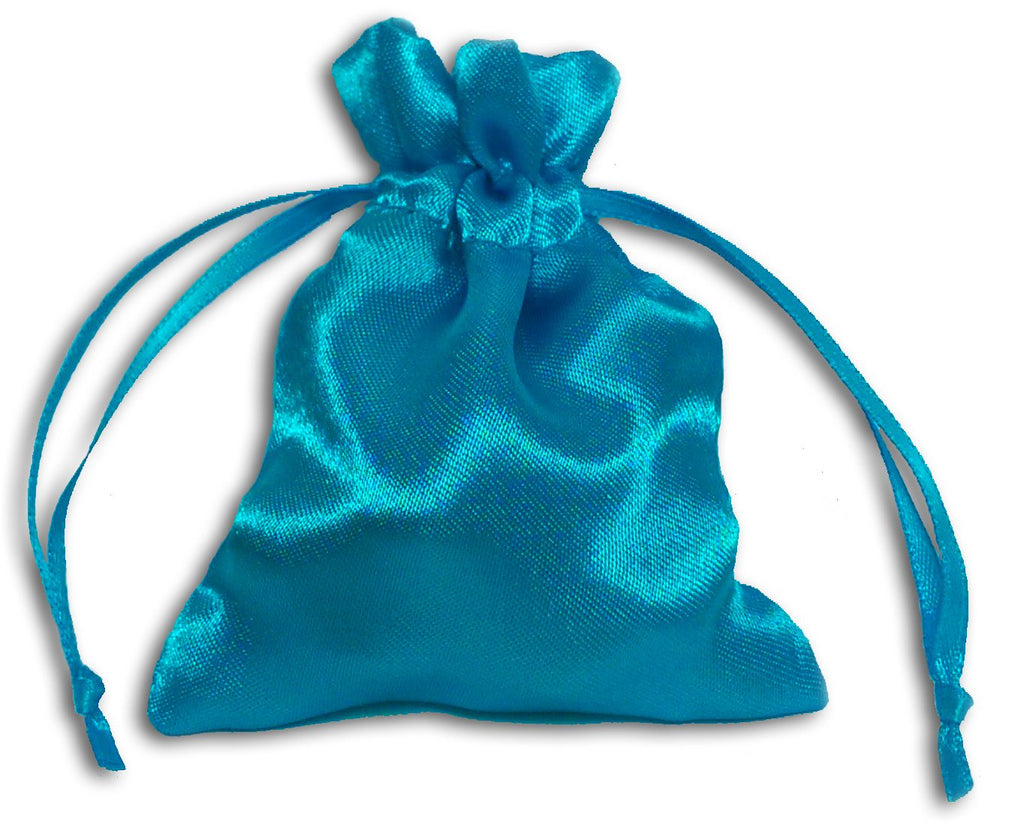 PS15 - Turquoise Satin Pouch (Satin Bags) at Enchanted Jewelry & Gifts