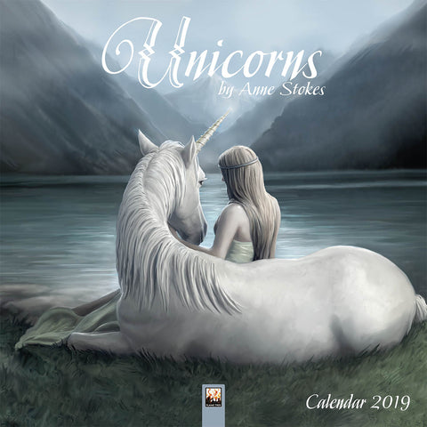 ASCAL2019-Anne Stokes 2019 Unicorn Calendar-Anne Stokes Calendar-Enchanted Jewelry & Gifts