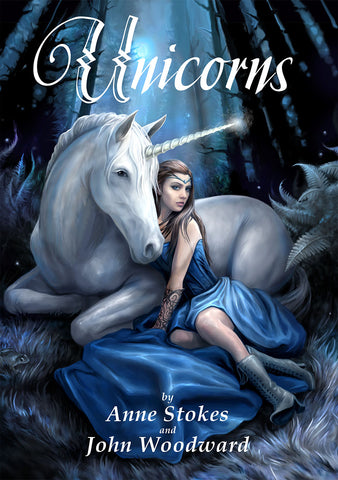 UNIB001-Unicorns Book by Anne Stokes and John Woodward-Books-Enchanted Jewelry & Gifts
