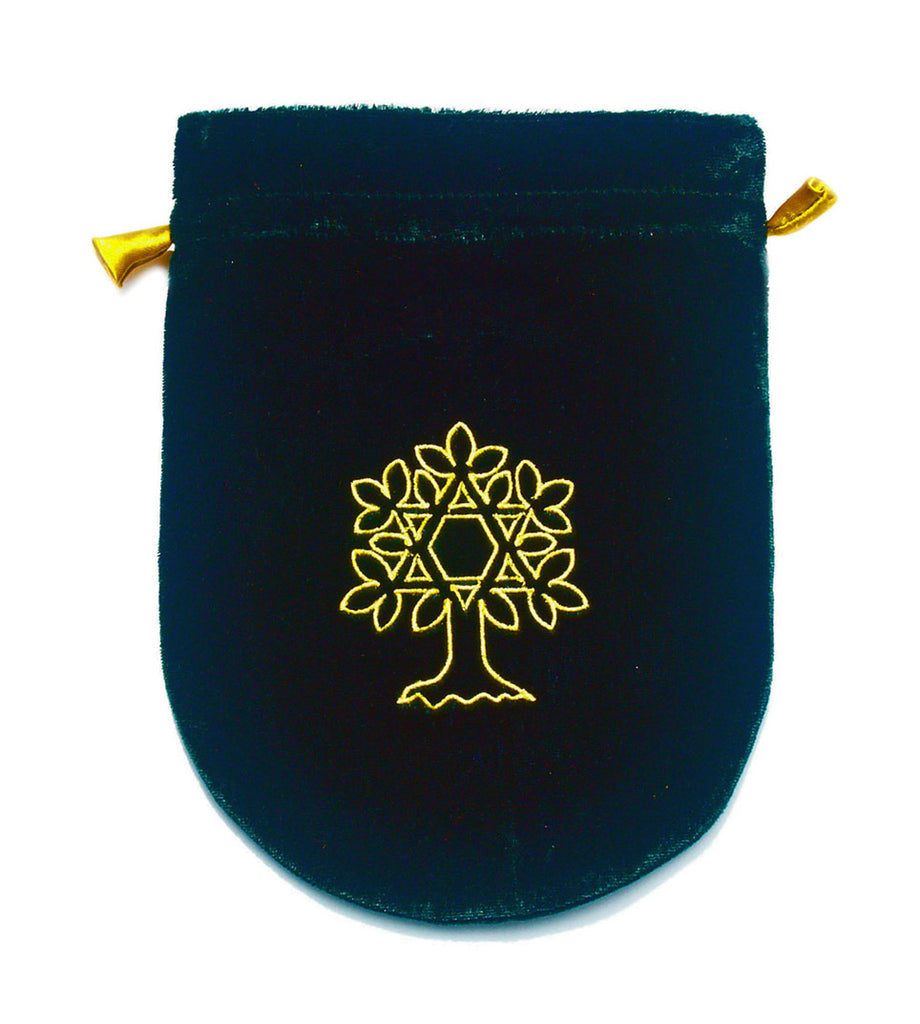 VTB02-Green Velvet Tree of Life Tarot Bag (Tarot Bags) at Enchanted Jewelry & Gifts