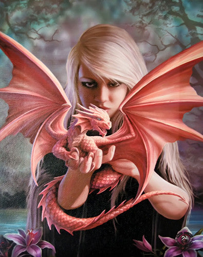 (Product Code: WP100AS) Dragon Kin Canvas Art Print by Anne Stokes, Canvas Art Prints - EnchantedJewelry
