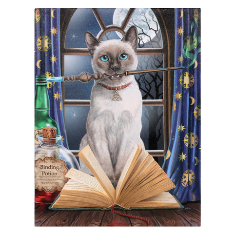WP116LP-Hocus Pocus Cat Canvas Art Print by Lisa Parker (Canvas Art Prints) at Enchanted Jewelry & Gifts