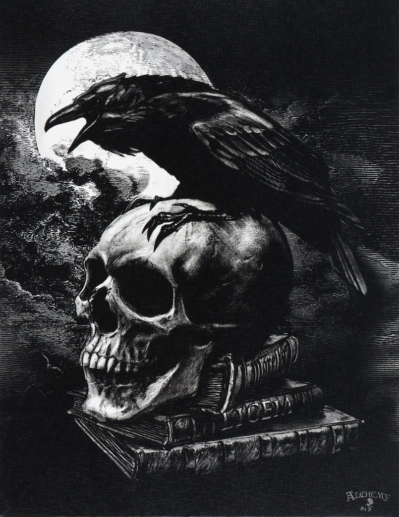 Poe's Raven Canvas Print by Alchemy Gothic of England