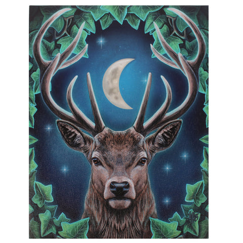 WP279LP - Emperor Stag Canvas Art Print by Lisa Parker (Canvas Art Prints) at Enchanted Jewelry & Gifts