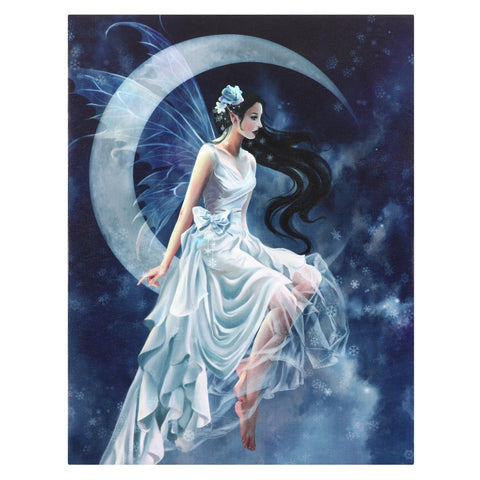 WP288NT-Frost Moon Fairy Canvas Art Print by Nene Thomas (Canvas Art Prints) at Enchanted Jewelry & Gifts