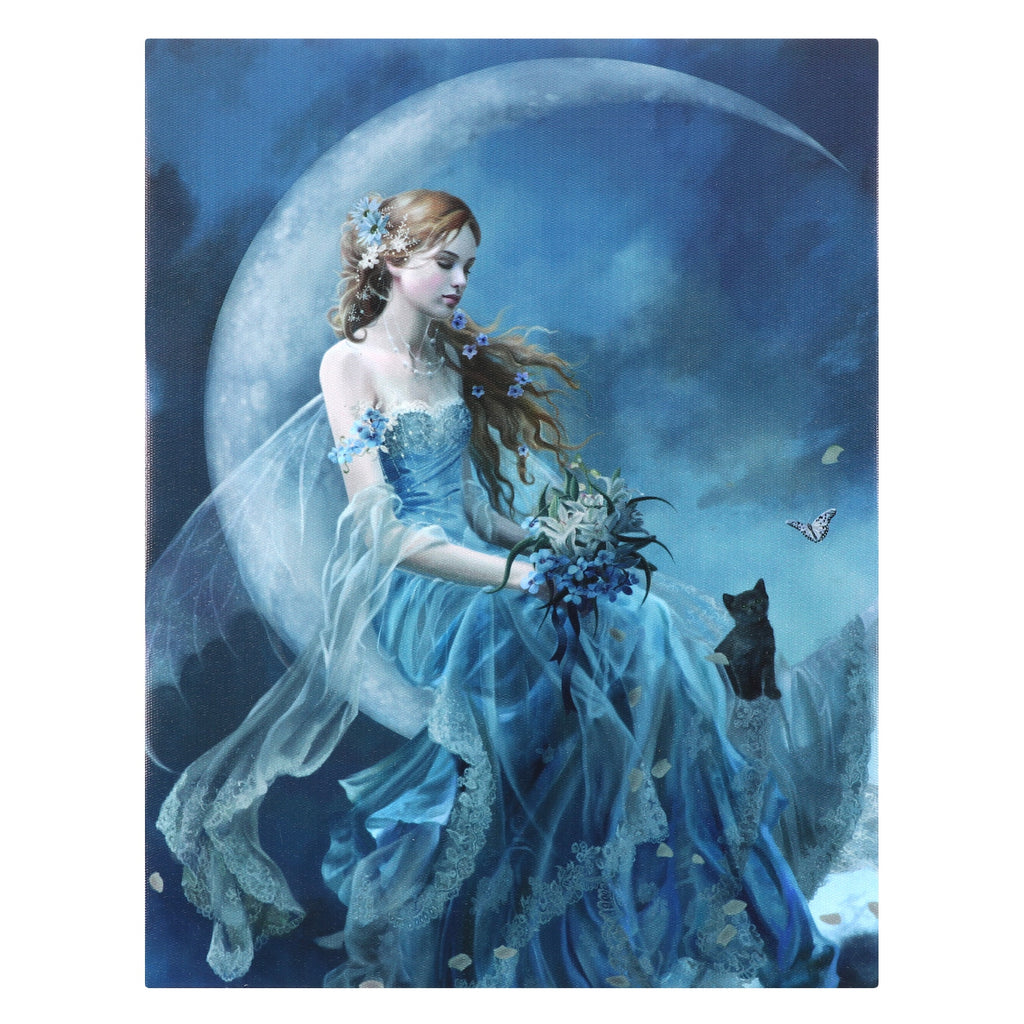 WP296NT-Wind Moon Fairy Canvas Art Print by Nene Thomas (Canvas Art Prints) at Enchanted Jewelry & Gifts