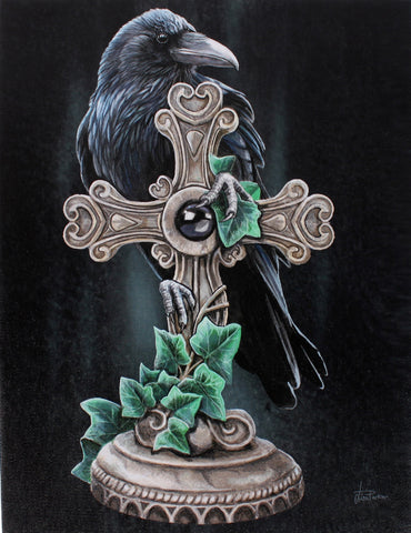 WP302LP - The Fallen Raven Canvas Print by Lisa Parker (Canvas Art Prints) at Enchanted Jewelry & Gifts