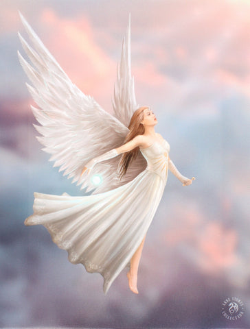 WP416AS-Ascendance Angel Canvas by Anne Stokes-Canvas Art Prints-Enchanted Jewelry & Gifts