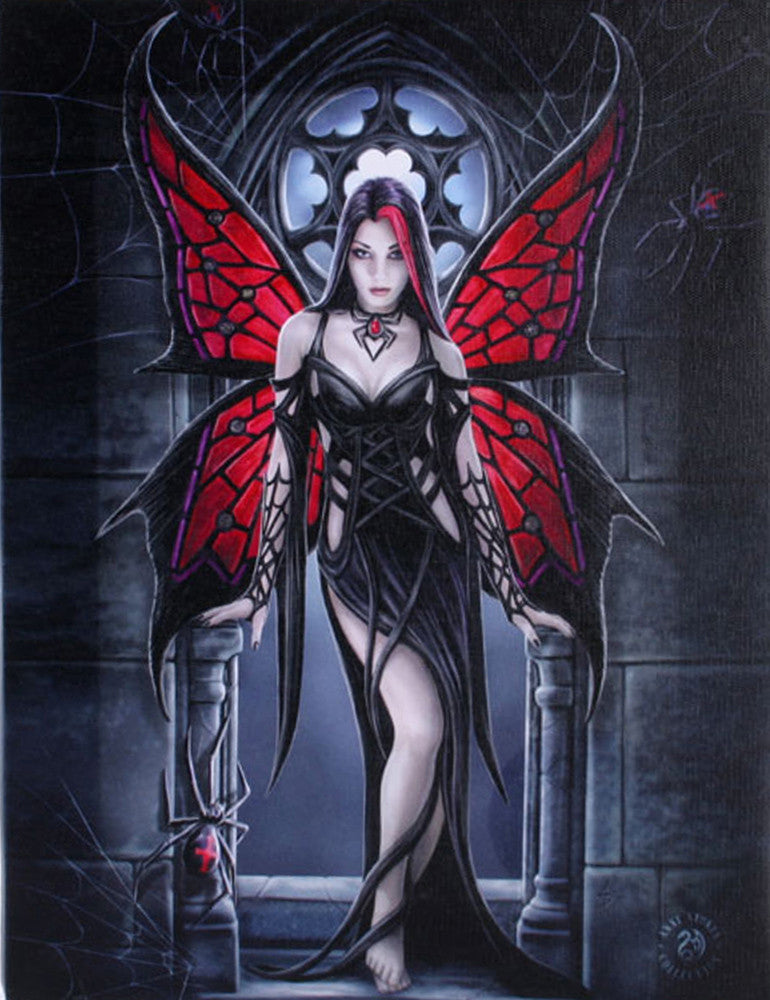 WP757AS - Arachnafaria Canvas Art Print by Anne Stokes (Canvas Art Prints) at Enchanted Jewelry & Gifts